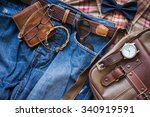 men's casual outfits background ... | Shutterstock . vector #340919591