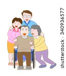 the happiness family who... | Shutterstock .eps vector #340936577