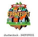 frankfurt in germany is... | Shutterstock .eps vector #340939031