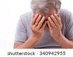 senior man suffering from... | Shutterstock . vector #340942955