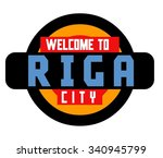 riga in latvia is beautiful... | Shutterstock .eps vector #340945799