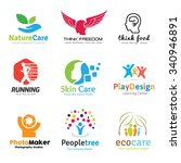 logo collection set people idea ... | Shutterstock .eps vector #340946891