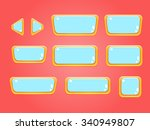 set of buttons  bright... | Shutterstock .eps vector #340949807