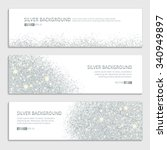 silver sparkles on white... | Shutterstock .eps vector #340949897