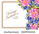 romantic invitation. wedding ... | Shutterstock .eps vector #340953434