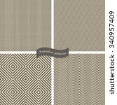 collection of seamless tweed... | Shutterstock .eps vector #340957409