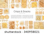 Crisps And Snacks On White...