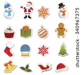 christmas icons collection | Shutterstock .eps vector #340967375