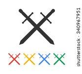 sword icon vector beautiful ... | Shutterstock .eps vector #340967951