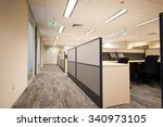 contracted office work place | Shutterstock . vector #340973105