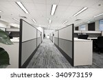 contracted office work place | Shutterstock . vector #340973159