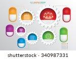 business info graphic design... | Shutterstock .eps vector #340987331