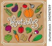 cartoon vegetables set.   Shutterstock . vector #340987859