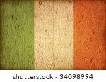 wood flag of ireland   Shutterstock . vector #34098994