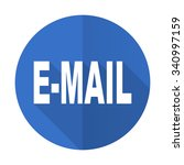 email blue web flat design icon ... | Shutterstock . vector #340997159