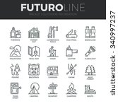 modern thin line icons set of ...