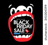 black friday sale. a large face ... | Shutterstock .eps vector #341004599