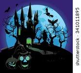 illustration of halloween... | Shutterstock .eps vector #341011895