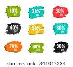 christmas  new year  black... | Shutterstock .eps vector #341012234