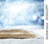 empty winter background for... | Shutterstock . vector #341012297