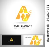 creative a letter logo design....   Shutterstock .eps vector #341014391