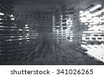 empty dark abstract concrete... | Shutterstock . vector #341026265
