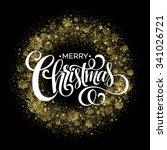 christmas sparklers in shape of ... | Shutterstock .eps vector #341026721