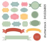 set of vector labels and banners | Shutterstock .eps vector #341026805