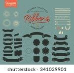 set of retro vintage logo...   Shutterstock .eps vector #341029901