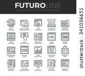 modern thin line icons set of... | Shutterstock .eps vector #341036651