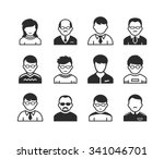 users avatars. occupation and... | Shutterstock .eps vector #341046701
