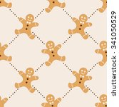 christmas seamless vector... | Shutterstock .eps vector #341050529