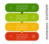 vector paper progress steps for ...   Shutterstock .eps vector #341059649