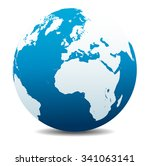 europe and africa  global world ... | Shutterstock . vector #341063141