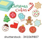 drawing of colorful christmas... | Shutterstock .eps vector #341069807