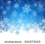 winter card with snowflakes.... | Shutterstock .eps vector #341073425