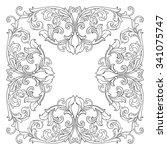 vintage baroque frame scroll...   Shutterstock .eps vector #341075747