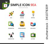 education simple icon set | Shutterstock .eps vector #341078309