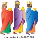 three kings or three wise men.... | Shutterstock .eps vector #341079209
