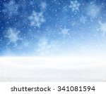 winter blue background with... | Shutterstock .eps vector #341081594