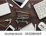 shopping online concept. small... | Shutterstock . vector #341086469