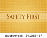 safety first colorful poster | Shutterstock .eps vector #341088467