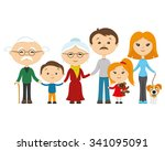 vector illustration. happy... | Shutterstock .eps vector #341095091