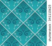 seamless ornamental pattern.... | Shutterstock .eps vector #341110625