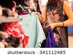 shopping concept   woman... | Shutterstock . vector #341112485