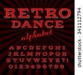 old style alphabet. retro type... | Shutterstock .eps vector #341112794