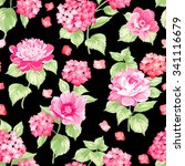 the floral seamless pattern... | Shutterstock .eps vector #341116679