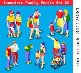 flat style family set. young... | Shutterstock . vector #341126081