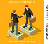 business handshake agreement.... | Shutterstock . vector #341131151