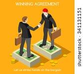 business handshake agreement.... | Shutterstock . vector #341131151